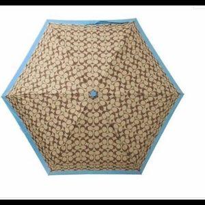Automatic SIGNATURE COACH Umbrella New with Tags